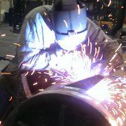 BEN-Maschinenbau - Schweißen einer Brecherwalze