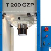 Detail Prüfpresse BEN T 200 GZP – Kolbenstange und Presszylinder
