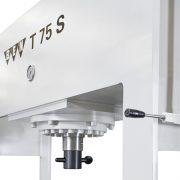 Detail Werkstattpresse BEN T 75 S – Presszylinder und Handventil zur stufenlosen Regulierung der Hubgeschwindigkeit und des Pressdrucks